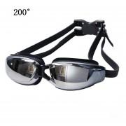 Galvanoplastia Silicona Anti - Vaho Gafas De Natacion Para Adultos, Adecuado Para 200 Grado Miopía (negro)