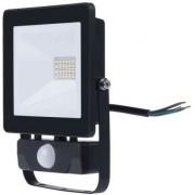 Proiector LED Slim cu senzor de miscare, 20W, IP65, negru, 30000 ore, 6500 K, rece