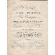 Primo pot-pourri con variazioni per il forte-piano composto di varie ariette estratte dalle opere del sig. Maestro Ferdinando Paer [Op. 77] CARULLI,