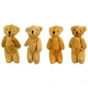 London Teddy Bears New 4 X Cute and Cuddly Small Brown Bear - Gift Present Birthday Xmas