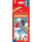Creioane Colorate Junior Grip + Ascutitoare Faber-Castell 30 culori / cutie carton
