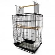 PawHut - Jaula para pássaros com teto convertível - PAWHUT