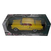 "1955 Chevrolet Bel Air Convertible Soft Top Yellow ""Timeless Classics"" 1/18 By Motormax 73184 Tc"