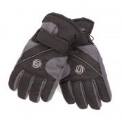 Merkloos Ski handschoenen voor jongens zwart/navy