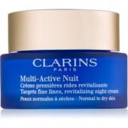Clarins Multi-Active crema de noche revitalizante para suavizar las líneas de expresión para pieles normales y secas 50 ml