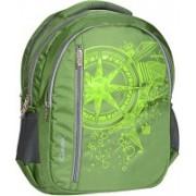 Classic Polyester School Bag |Shoulder Backpacks 32 L Laptop Backpack(Green)