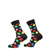 Happy Socks - Apple Sock - Zwart - Size: 36-40