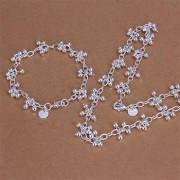 Set bilute placat argint colier si bratara