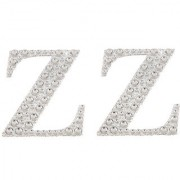 Magideal 2Pcs Self Adhesive Letters Diamante Post Box Favour Embellishment Crafts Z