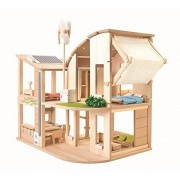 Plan-Toys The Green Dollhouse With Furniture