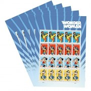 Wonder Woman 5 Sheets of 20 USPS Forever First Class Postage Super Hero Justice Equality Peace (5 sheets of 20)