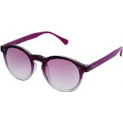 Fastrack Round Sunglasses(Pink)