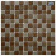Maxwhite H28 plus H29 plus H30 Mozaika skleněná hnědá cappuccino latte 29,7x29,7cm sklo