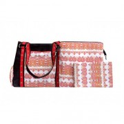 Chele and Maye Red Floral Nappy Bag
