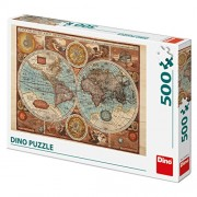 Dinotoys Dino Toys 502086 Map of The Word from 1626 Jigsaws Puzzle