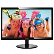 """Монитор 24"""" (60.96 cm) Philips 246V5LSB, TFT-LCD панел, Full HD, 5 ms, 10 000 000:1, 250 cd/m2, DVI"""