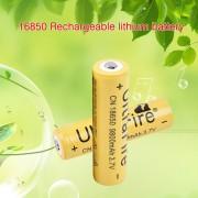 EH Batería Amarilla Recargable 18650 Batería Del Li-ion 9800mAh 3.7V Para La Linterna - Amarillo