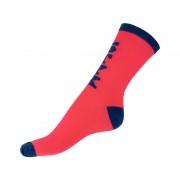 Styx Ponožky Styx crazy růžové s modrým nápisem (H300) M