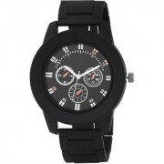 MF Attractive Black Chain Strap Black Dial Chronograph Watches For Boys And Kids