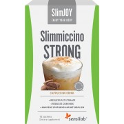 SlimJOY Slimmiccino STRONG Café queima gordura com Garcinia cambogia e café verde acção emagrecedora 4-em-1 programa de 10 dias 10 saquetas