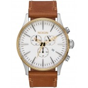 Ceas barbatesc Nixon A405-2548 Sentry Gold Cream Tan 42mm 10ATM