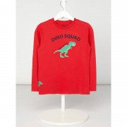 Review for Kids Longsleeve mit Dino-Aufnäher