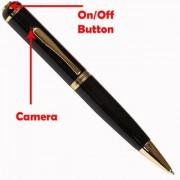 Black 16GB Inbuilt Spy Pen Hidden HD 5 MegaPixel Camera Audio/Video Recording