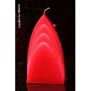 Candles by Milanne Bogen Kaars, ROOD METALLIC, hoogte: 17cm - kaarsen