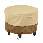 Classic Accessories Ottoman/Coffee Table Cover XS, Cover Type Small Table/Ottoman, Primary Color Tan, Primary Material Polyester, Model 55-999-361501-