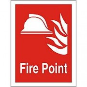 Unbranded Fire Sign Fire Point Plastic 20 x 15 cm