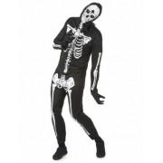 Disfarce esqueleto homem Halloween