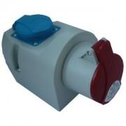Priza aplicata combinata industriala 5 X 16A si priza schuko IP44 IZVZ 1653/S