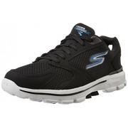 Skechers Men's Go Walk 3 Black and Blue Nordic Walking Shoes - 8 UK/India (42 EU) (9 US)