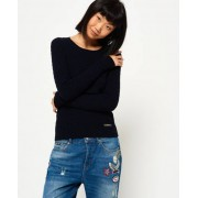 Superdry Luxe Mini Cable Knit Jumper Navy