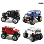 Set of 4 Cars: 5 2008 Monster 4x4 Hummer H2 SUV 1/40 Scale