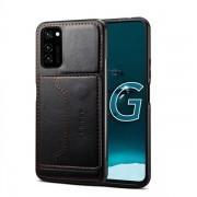 Konstläderskal med ställ Samsung Galaxy A51 - Svart