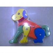 Fa puzzle kirakó, állatos