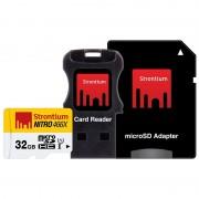 Cartão de Memória MicroSDHC Strontium Nitro 466X SRN32GTFU1C - 32GB