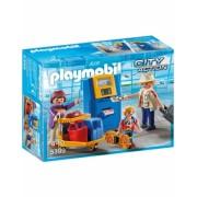 Familie La Aparatul De Check In Playmobil