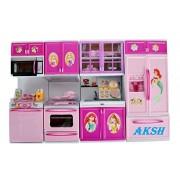 AKSH Dream House Kids Choice Big Size Kitchen Modern Kitchen Set 4 Pcs(Color & Theme AS PER Availability)