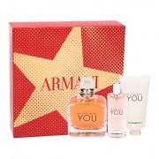 Giorgio Armani Emporio Armani In Love With You confezione regalo eau de parfum 100 ml + eau de parfum 15 ml + crema mani 50 ml donna