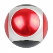 ZHAOYAO 6-Sided estilo de futbol mano girador juguete del dedo Gyro-Rojo
