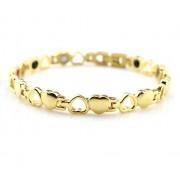 RS Bracelet magnétique les coeurs en or