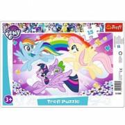 Puzzle My Little Pony Aventura Curcubeu 15 piese