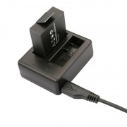 Chargeur de voyage à double batterie USB pour SJCAM SJ4000 / SJ5000 / SJ6000 (CH1 / CH2)