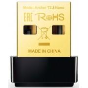 Adaptor USB Wireless TP-LINK Archer T2U Nano, Dual Band, 600 Mbps (Negru)