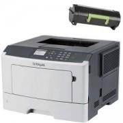 Лазерен принтер Lexmark Mono Laser Printer MS510dn - 35S0330 + Съвместима тонер касета Lexmark 50F2X00 - 10 000 копия