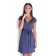 Dámské modré (grafitové) šaty 5416