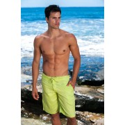 Sauvage Linen Resort Boardshorts Beachwear Celery