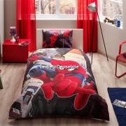 Lenjerie de pat TAC Disney 3 piese Spiderman in city